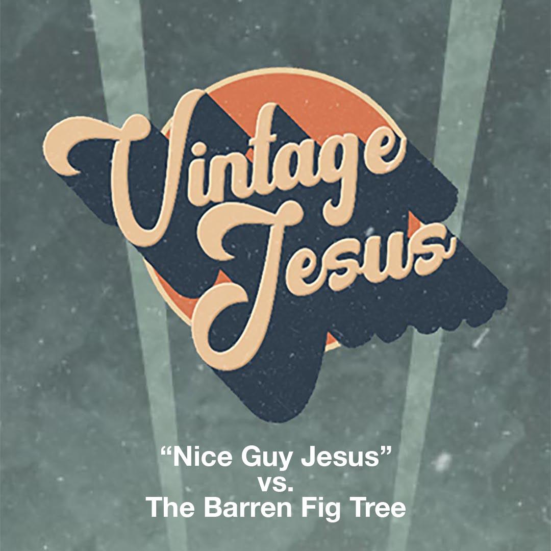 "Vintage Jesus: ""Nice Guy Jesus"" vs. The Barren Fig Tree"